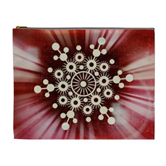 Background Star Red Abstract Cosmetic Bag (xl)