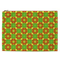 Pattern Texture Christmas Colors Cosmetic Bag (xxl)  by Celenk
