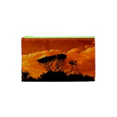 Trees Branches Sunset Sky Clouds Cosmetic Bag (xs) by Celenk