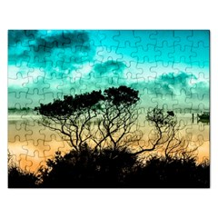 Trees Branches Branch Nature Rectangular Jigsaw Puzzl by Celenk
