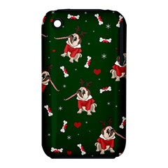 Pug Xmas Pattern Iphone 3s/3gs by Valentinaart