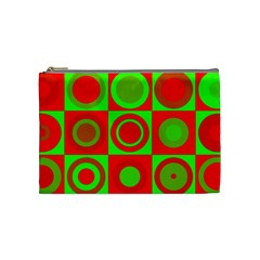 Redg Reen Christmas Background Cosmetic Bag (medium)