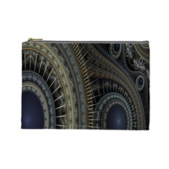 Fractal Spikes Gears Abstract Cosmetic Bag (large)  by Celenk