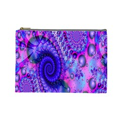 Fractal Fantasy Creative Futuristic Cosmetic Bag (large)  by Celenk