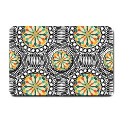 Beveled Geometric Pattern Small Doormat  by linceazul