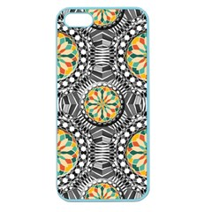 Beveled Geometric Pattern Apple Seamless Iphone 5 Case (color) by linceazul
