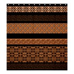 Brown African Tribal Mix Shower Curtain 66  x 72