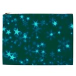 Blurry Stars Teal Cosmetic Bag (XXL)  Front