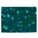 Blurry Stars Teal Cosmetic Bag (XXL)  Back
