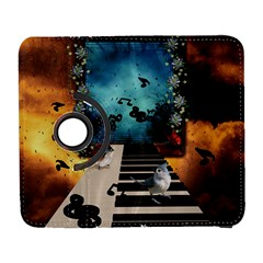 Music, Piano With Birds And Butterflies Galaxy S3 (flip/folio) by FantasyWorld7