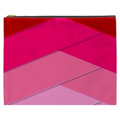 Geometric Shapes Magenta Pink Rose Cosmetic Bag (xxxl)  by Celenk