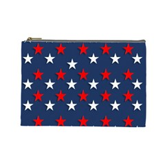 Patriotic Colors America Usa Red Cosmetic Bag (large)  by Celenk
