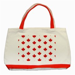 Maple Leaf Canada Emblem Country Classic Tote Bag (red)