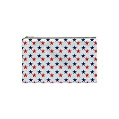 Patriotic Red White Blue Stars Usa Cosmetic Bag (small)  by Celenk