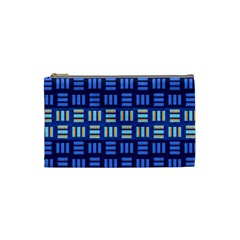 Textiles Texture Structure Grid Cosmetic Bag (small)  by Celenk