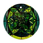 Green - Round Ornament (Two Sides)