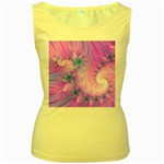 Delicate Women s Yellow Tank Top