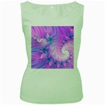 Delicate Women s Green Tank Top