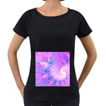 Delicate Women s Loose-Fit T-Shirt (Black)