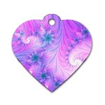 Delicate Dog Tag Heart (Two Sides)