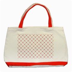 Hearts Pattern Love Design Classic Tote Bag (red)