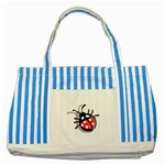 Lady Bug Striped Blue Tote Bag