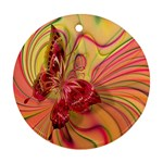 Arrangement Butterfly Aesthetics Round Ornament (Two Sides)