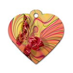 Arrangement Butterfly Aesthetics Dog Tag Heart (One Side)