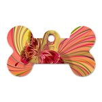 Arrangement Butterfly Aesthetics Dog Tag Bone (Two Sides)