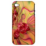 Arrangement Butterfly Aesthetics Apple iPhone 4/4S Hardshell Case (PC+Silicone)