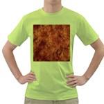 Abstract Flames Fire Hot Green T-Shirt