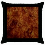 Abstract Flames Fire Hot Throw Pillow Case (Black)