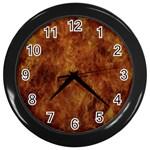 Abstract Flames Fire Hot Wall Clocks (Black)