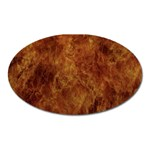 Abstract Flames Fire Hot Oval Magnet