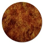 Abstract Flames Fire Hot Magnet 5  (Round)