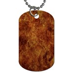 Abstract Flames Fire Hot Dog Tag (One Side)
