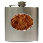 Abstract Flames Fire Hot Hip Flask (6 oz)