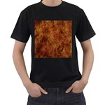 Abstract Flames Fire Hot Men s T-Shirt (Black) (Two Sided)