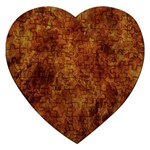 Abstract Flames Fire Hot Jigsaw Puzzle (Heart)