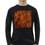 Abstract Flames Fire Hot Long Sleeve Dark T-Shirts