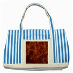 Abstract Flames Fire Hot Striped Blue Tote Bag