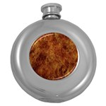 Abstract Flames Fire Hot Round Hip Flask (5 oz)