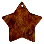 Abstract Flames Fire Hot Star Ornament (Two Sides)