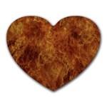 Abstract Flames Fire Hot Heart Mousepads