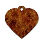 Abstract Flames Fire Hot Dog Tag Heart (One Side)