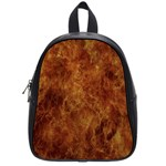 Abstract Flames Fire Hot School Bag (Small)