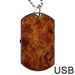 Abstract Flames Fire Hot Dog Tag USB Flash (Two Sides)