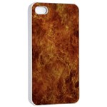 Abstract Flames Fire Hot Apple iPhone 4/4s Seamless Case (White)