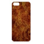 Abstract Flames Fire Hot Apple iPhone 5 Seamless Case (White)
