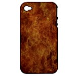 Abstract Flames Fire Hot Apple iPhone 4/4S Hardshell Case (PC+Silicone)